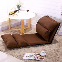 High quality cotton cloth leather sofa single folding tatami bed creative bedroom small sofa chair(China)