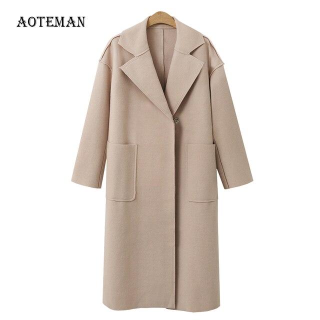 FLULU Herbst Winter Anzug Blazer Frauen 2018 Casual Formale Wolle Mantel Elegante Arbeit Büro Dame Langarm Blazer Mujer Oberbekleidung