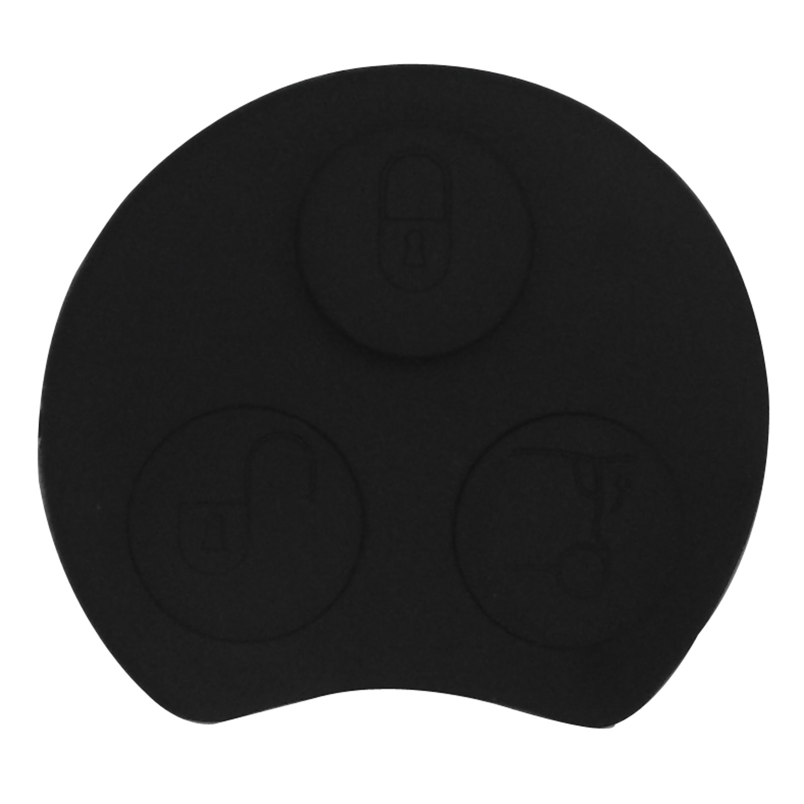 jingyuqin Remote <font><b>Key</b></font> Button Pad for Mercedes Benz <font><b>Smart</b></font> Two <font><b>450</b></font> Mayitr <font><b>Smart</b></font> <font><b>Key</b></font> Fob Case Shell Rubber Pad 3 Buttons image