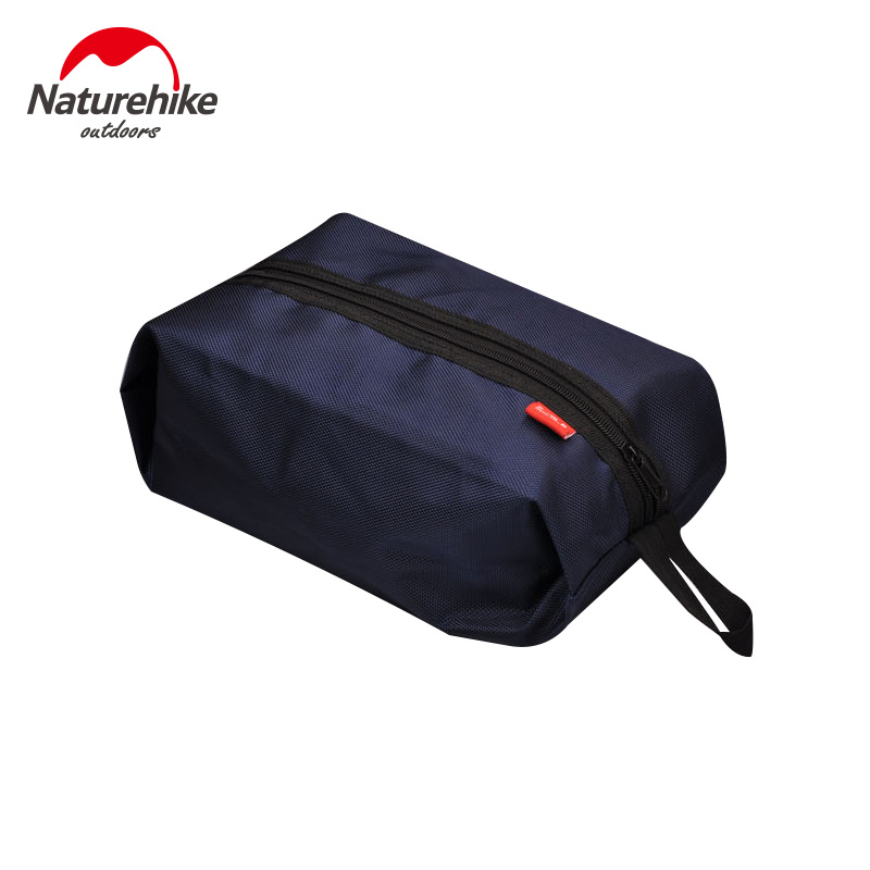 NatureHike NH15A001-R Portable Nylon Travel Shoe Bags With Zipper Closure Organizer Space Saving Storage Laundry Pouch Wash Bag