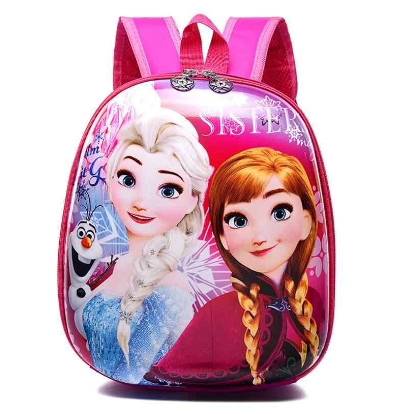 2019 милые детские школьные рюкзаки для девочек с изображением Эльзы, 3D печать, водонепроницаемые жесткие детские ортопедические рюкзаки