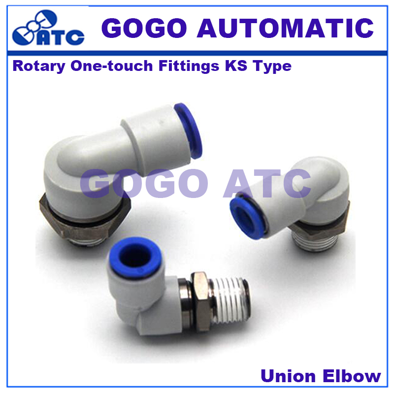 SMC type Rotary One touch Fittings Standard Type High Speed Type KSL Series Union Elbow male