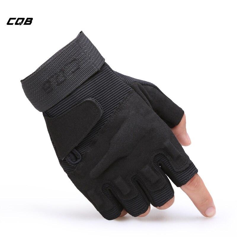 CQB Outdoor Sport Tactical Military Half-finger Kämpfen Handschuhe für Ausbildung Wandern Reiten Radfahren Mens Fäustlinge