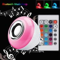 lampada bluetooth musical new year gift wireless led bulb e27 rgb with speaker globo de luz de festa play bulbs intelligent mu