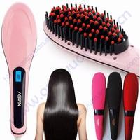 100% original electric cheap NASV hair straightener brush digital hair straightening comb with FCC certification