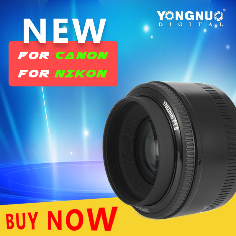 YONGNUO 50mm f 1 8 AF Lens Aperture Auto Focus YN50mm Len For Nikon DSLR Camera