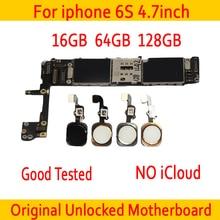 Заводская разблокированная материнская плата для iphone 6 S 6 S с сенсорным ID/без сенсорного ID, оригинальная разблокированная материнская плата для iphone 6 S MB Plate