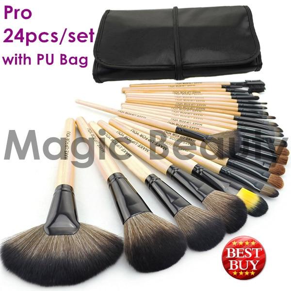 24pcs Makeup Brushes Tools Brand Makeup Set Professional Makeup Tools Cosmetics Brush Makeup Tool Kits + PU Leather Bag