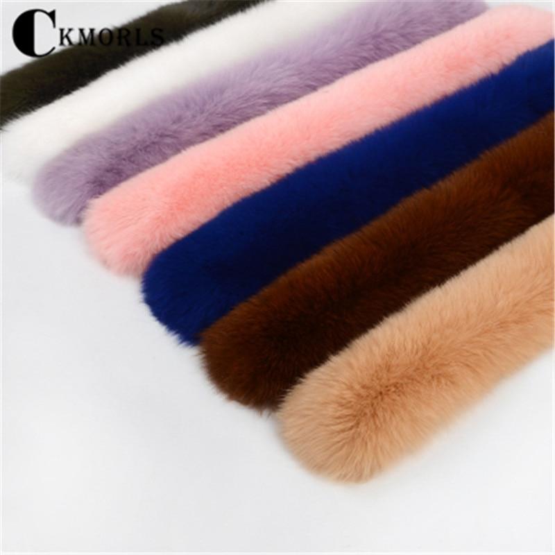 CKMORLS Real Raccoon Fur Collar Women Parka Clothes Natural Fur Hood Full Pelt Pink Black White Brown Custom Made Coat Collar