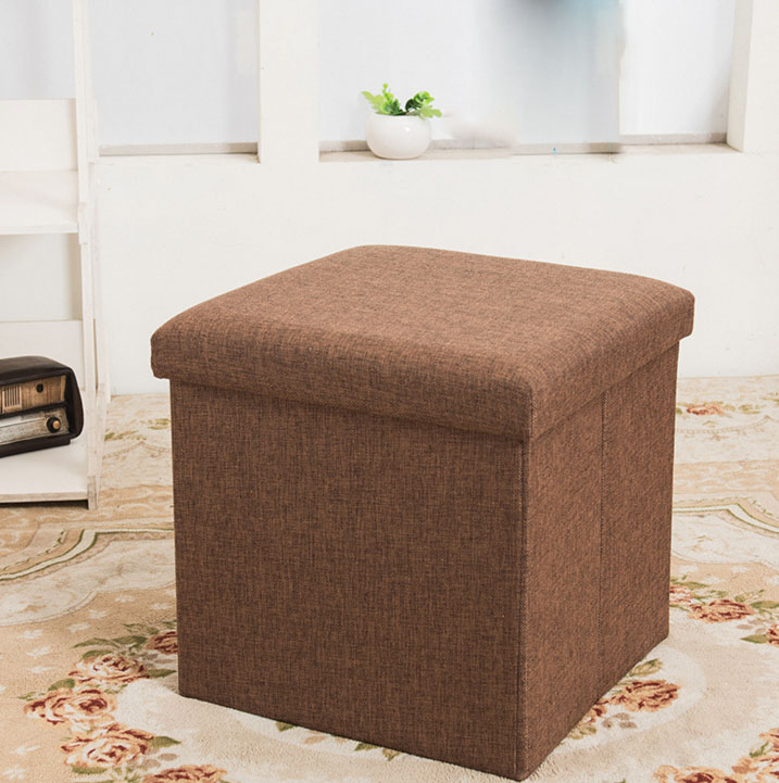 30*30*30CM Folding Storage Stool Sofa Chair Ottomans Furniture Stool With Cloth Cover Seat Cushion floral cushion design table stool padded piano chair wood stools rest cosmetics seat sofa bench simple stool home furniture