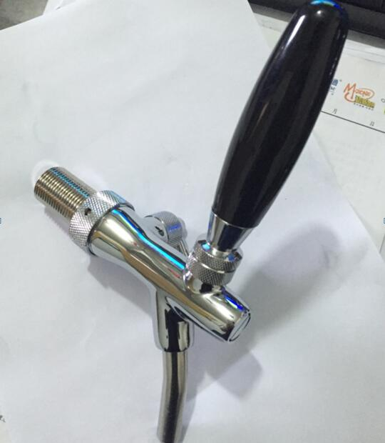 Beer column faucet accessories beer faucet valve adjustable,Kegerator tap homebrew stainless steel piston and nozzle brass valve american style stainless steel slow pressure beer column tap coffee faucet beer barrel connecting faucet kegerator tap homebrew
