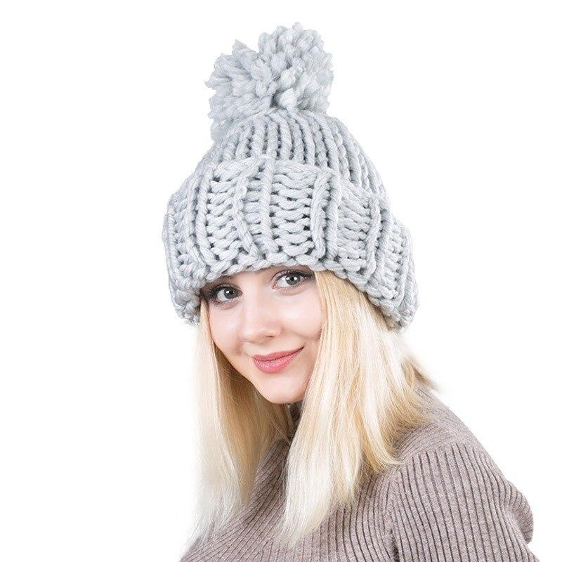 2018 nueva moda grueso líneas de mano de mujer invierno cálido de ...