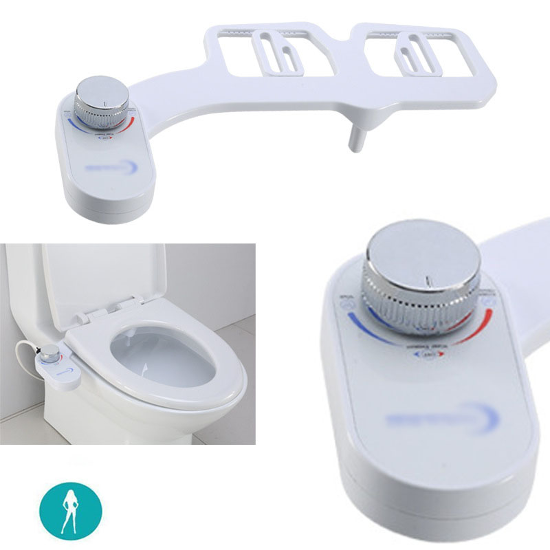 Non Electric Bidet Attachment Toilet Bidet Seat Self Cleaning Nozzle Fresh Water Bidet Sprayer Mechanical Muslim Shattaf Washing|Faucet Extenders| |  - title=