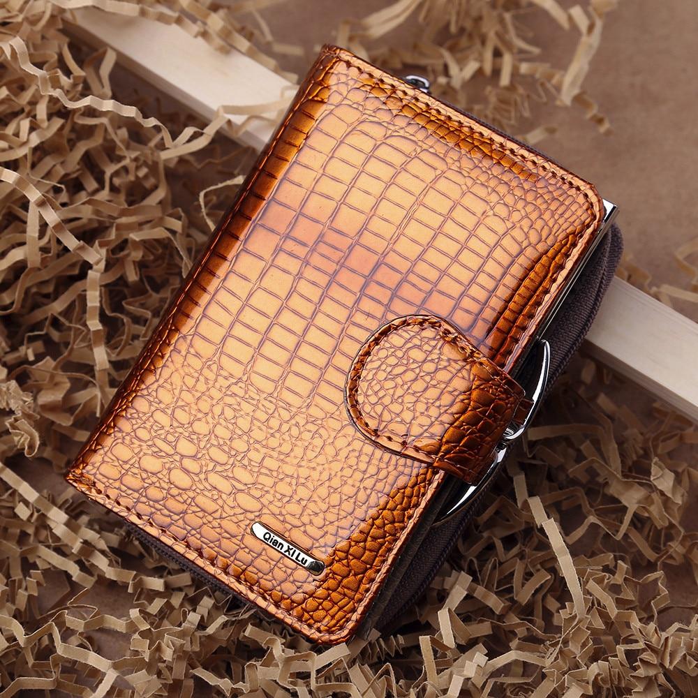 Leather Wallet Womens Leather Handbag Zipper Bag Card Bag Lady Purse Wallet Purse Women Carteira Feminina