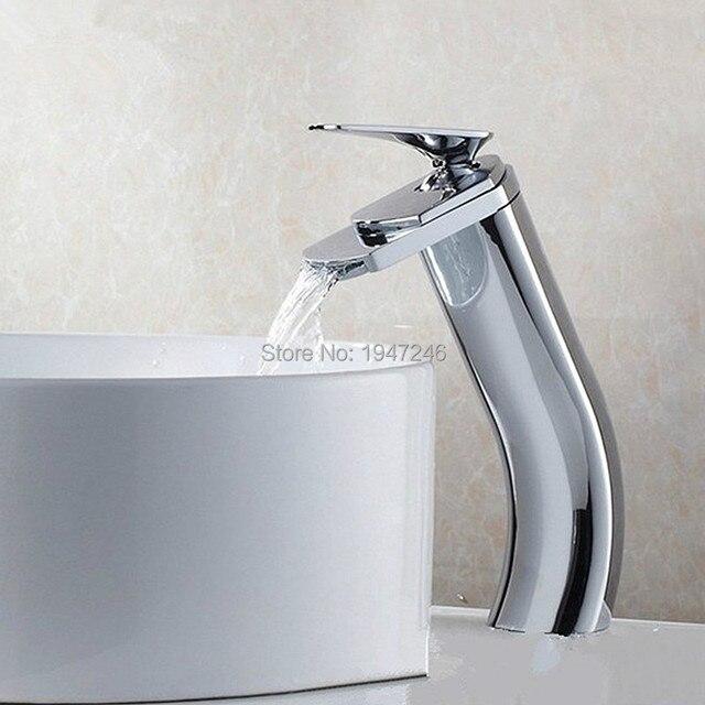2017 Unique Shape Luxury Lavatory Wash Basin Mixer Tap Waterfall ...