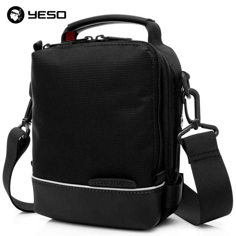 YESO Black Men Crossbody Bags 2019 Business Casual Crossbody Bags For Men Multifunction Waterproof Oxford Messenger Bags 2 Sizes