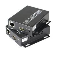 HDMI Extender Transmitter Receiverr Over IP/TCP UTP/STP CAT5e/6 Rj45 LAN Network Support 1080p 120m Extension Like HDMI Splitter