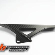 Цепь для мотоцикла крышка верхний слой; из углеродного волокна переплетенного по диагонали для Aprilia RSV4 2009