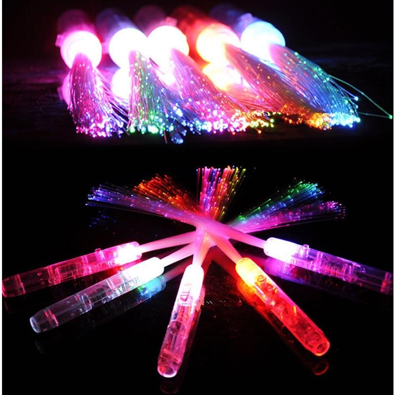 Gafas Led Para Fiestas Dress Sale 2017 20pcs/lot Flash Toy Multi Color Light Stick Baton Glow For Party Concert Props Supply