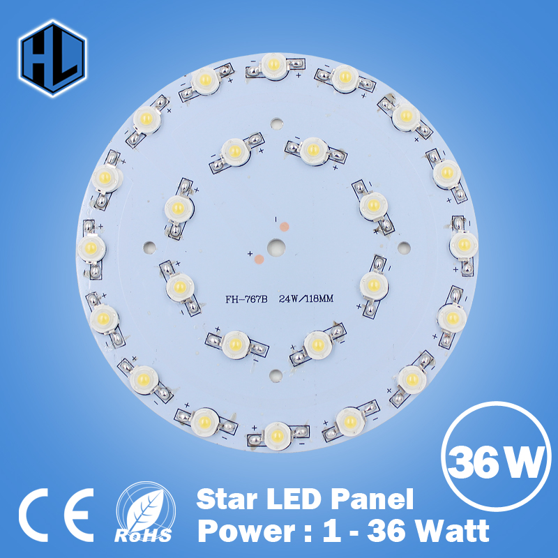 100PCS 1W 3W 5W 7W 9W 12W 15W 18W 21W 24W 30W 36W LED Star lamp HIGH POWER Aluminum Base Plate radiator,LED Board Panel Circular
