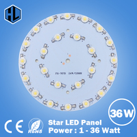 100PCS 1W 3W 5W 7W 9W 12W 15W 18W 21W 24W 30W 36W LED Star lamp HIGH POWER Aluminum Base Plate radiator,LED Board Panel Circular