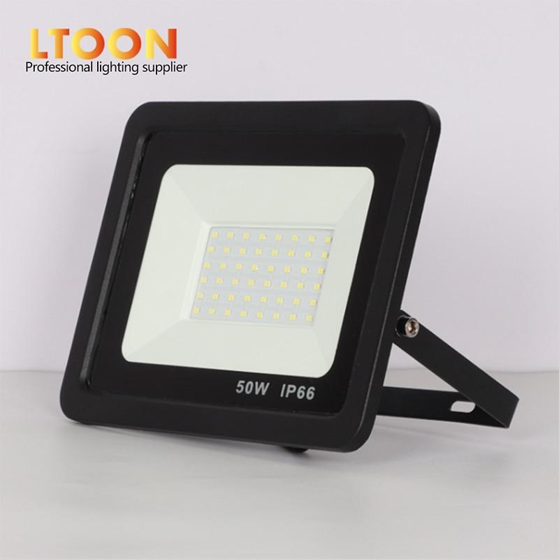 [LTOON]LED Floodlight 100W 50W 30W 20W 10W Ultra Thin Led Flood Light Spotlight Outdoor 220V IP66 Outdoor Wall Lamp Flood Light