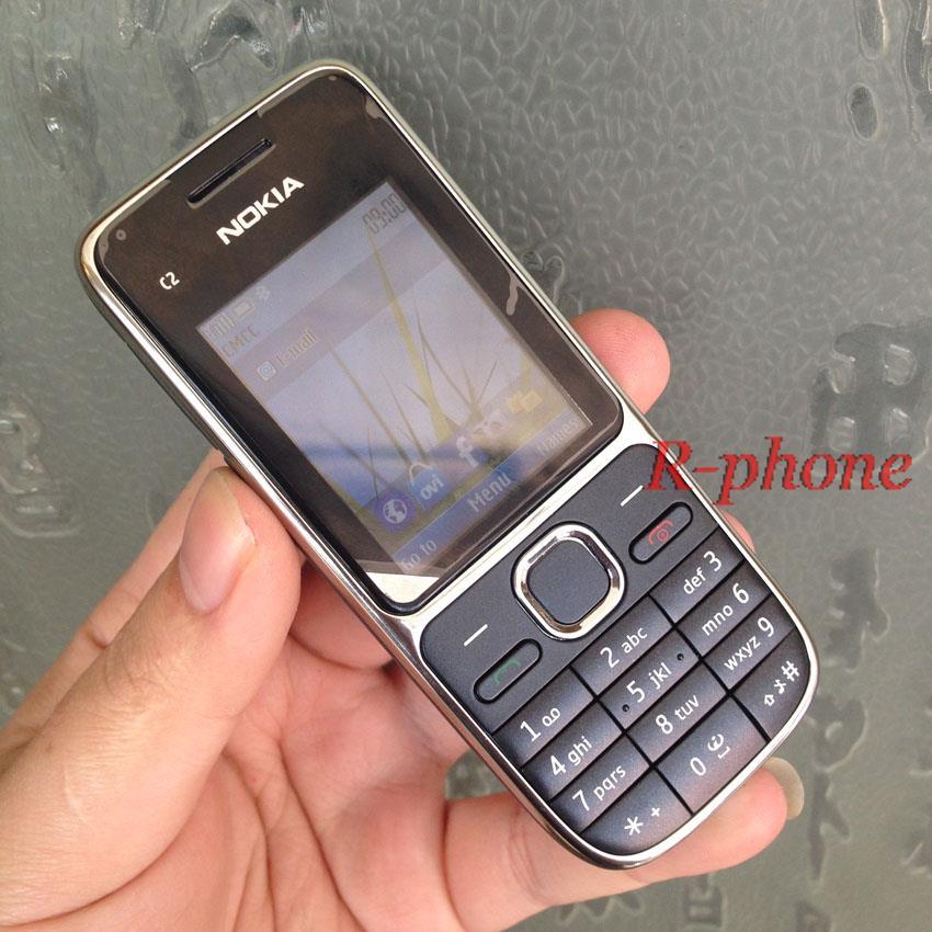 Nokia C2 C2-01 Золотой разблокированный мобильный телефон GSM восстановленные мобильные телефоны и русский иврит арабский клавиатура