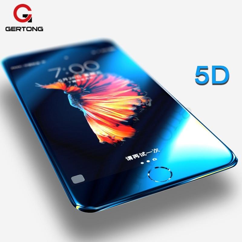 6de84871281 5D Premium de cristal templado para iPhone XR XS Max X 7 8, 6 S 6 S Plus de  la cubierta completa protector de pantalla de borde curvo película