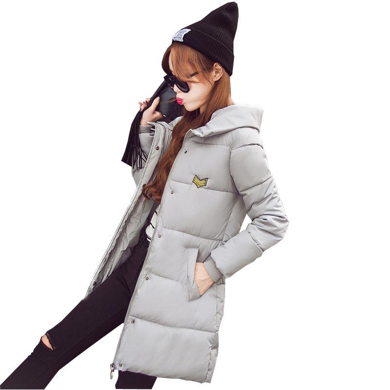 2016 brand new fashion hooded winter jacket coat women's warm down parka slim plus size long cotton-padded outerwear coat kl0623 hot 2014 new fashion winter clothing women elegant slim plus size zipper hooded jacket long warm cotton down parka coat wj1640