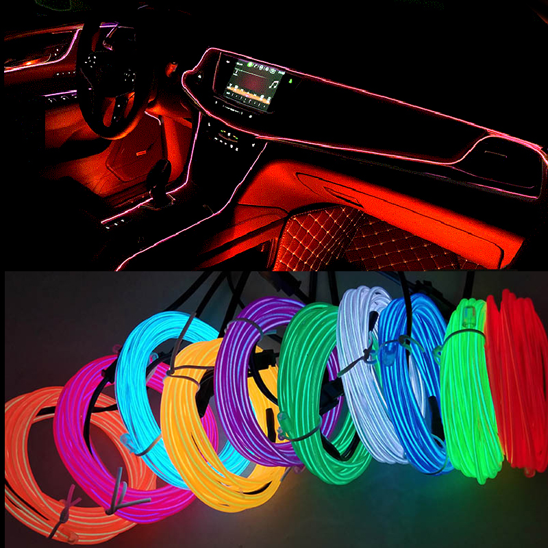 Garland-Wire Decoration Line Neon-Light Led-Strip Cigarette-Drive Flexible with Rope-Tube