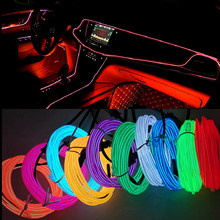 1 M/2 M/3 M/5 M Interior Mobil Strip LED Dekorasi Garland Tali Kawat tabung Line Fleksibel Neon Light dengan Rokok Drive(China)