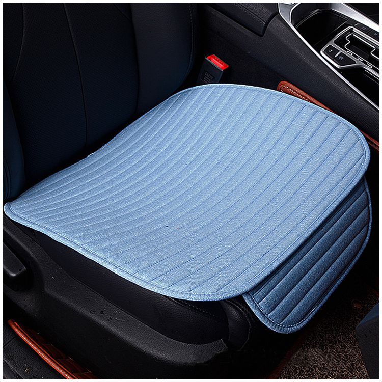 1 pcs crystal velvet striped car cushion no back to avoid tied four seasons pad 49 * 53CM blue
