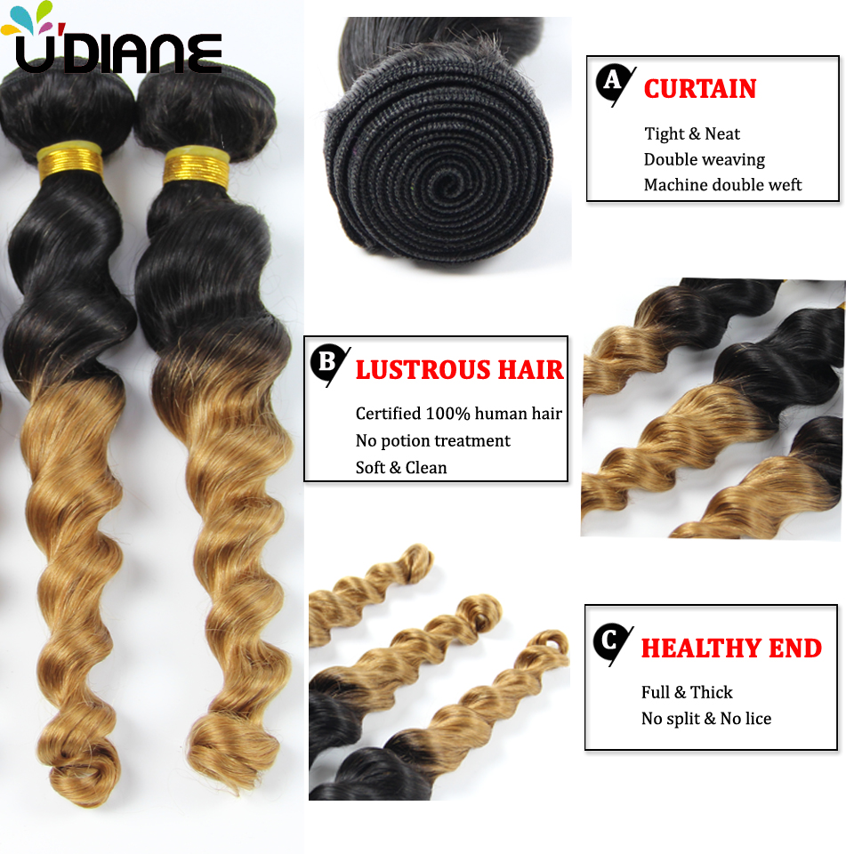 Brazilian virgin hair loose wave ombre hair extensions 3pcs blonde brazilian virgin hair loose wave ombre hair extensions 3pcs blonde ombre hair weft 10 26 two tone 1b 27 human hair weave 3lc02 in hair weaves from hair pmusecretfo Choice Image