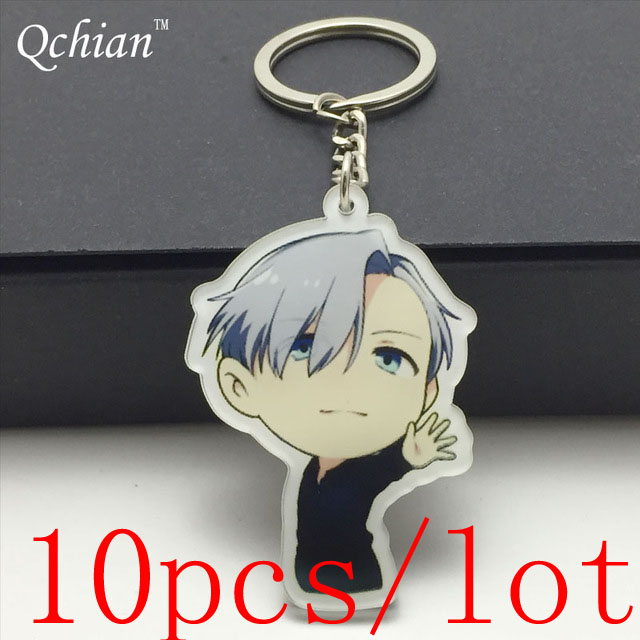 Obedient 10pcs/lot Anime Yuri!! Jewelry Sets & More On Ice Acrylic Car Motorcycle Keys Decorative Pendant Backpack Cosplay Jewelry Very Beautiful Gift