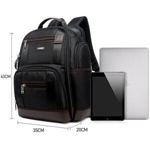 Image 4 - Americano famosa marca multi bolsos homens mochila grande capacidade fim de semana viagem de volta pacote de negócios dos homens super mochila masculino