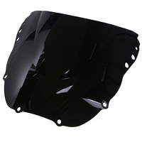 Vintage Double Bubble Motorcycle Windshield Scooter Windscreen Deflector Black/Clear For Off Road Honda CBR900RR 919RR 1998 1999