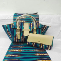 TN Latest Design African Wax Bag Set Fashion Women Handbag African Java Wax Prints Fabric For