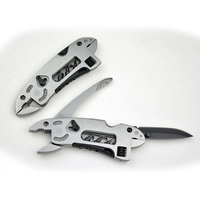 Outdoor Multi Functional Tool Pliers Pocket Knife Screwdriver Tools Kit Adjustable Wrench Double Head Survival Torque Army Camp