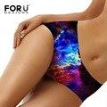 Forudesigns sexy calcinhas mulheres lingerie sem costura underwear novidade galaxy espaço calcinahas calcinha para senhoras confortáveis feminino