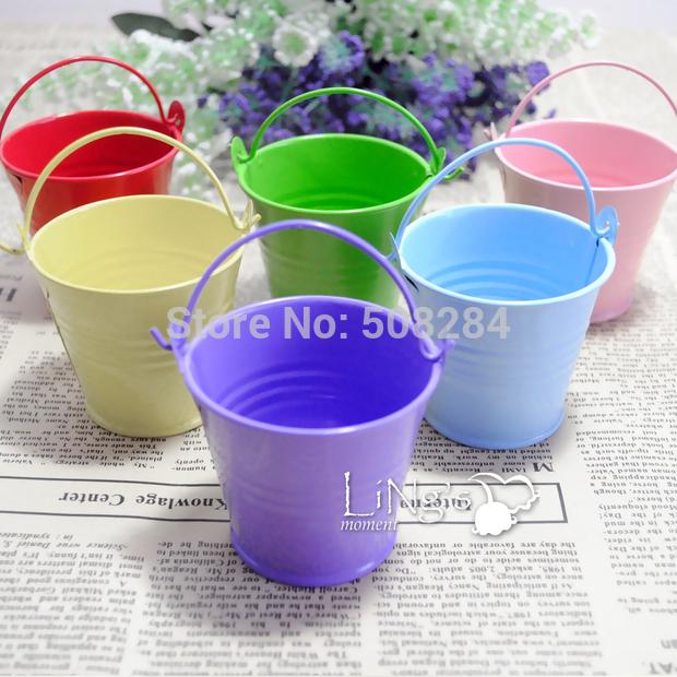 200pcs/lot tin pails wedding favors mini bucket mini pails tin candy