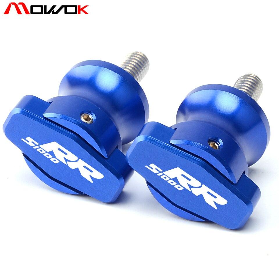 NICECNC 8mm Blue CNC Swing Arm Spools Slider for BMW S1000 R HP4 2013 2014 2015 S1000 RR /2009 2010 2011 2012 2013 2014 2015 F800 R 2015