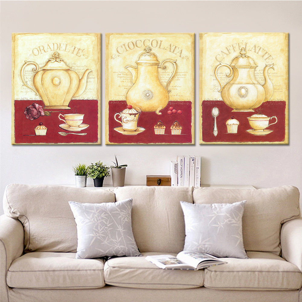 Drop Shipping Flower Canvas Painting Dining Decorative Picture Kitchen Canvas Prints Modern Still Life Home