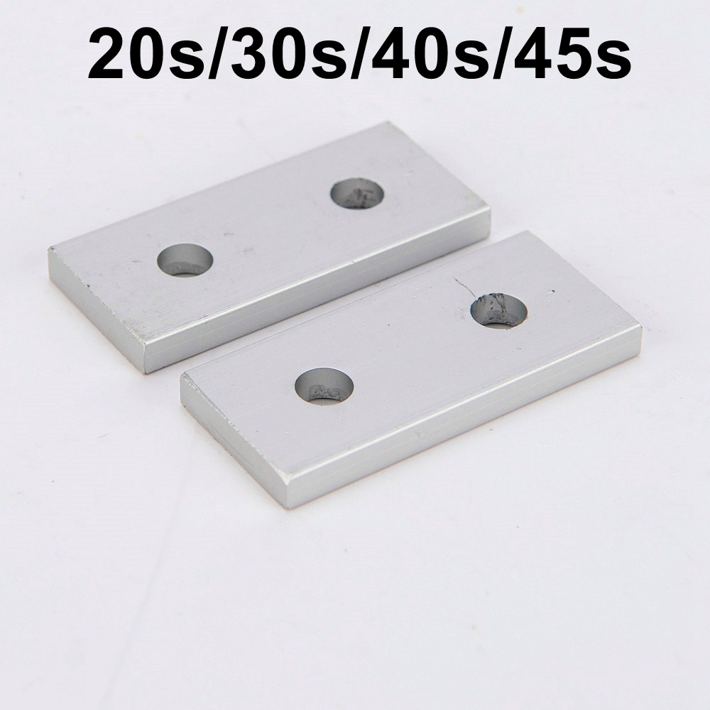 Link End Parallel Side by Side Vertical Joint Connect Angle Connector Strip for 2020 3030 4040 4545 Aluminum Profile aluminum alloy zinc alloy flexible pivot joint connector with handle for aluminum extrusion profile 3030 4040 4545 series
