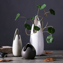 Creative Eggshell ceramic vase handmade flower ornaments hydroponics for home decoration gifts porcelain figurine