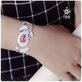 SUNDRUM 999 esterlina pulseiras artesanais de prata LETTERING LIVRE mulheres marca pulseras cadeia pulseiras jóias manguito personalizado bordado