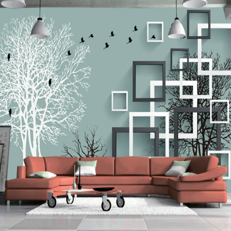 Stereoscopic 3D abstract forest birds backdrop mural murals living room bedroom study paper 3D wallpaper for living room flowers butterflies stereoscopic 3d block large mural 3d wallpaper bedroom room backdrop painting three dimensional 3d wallpaper
