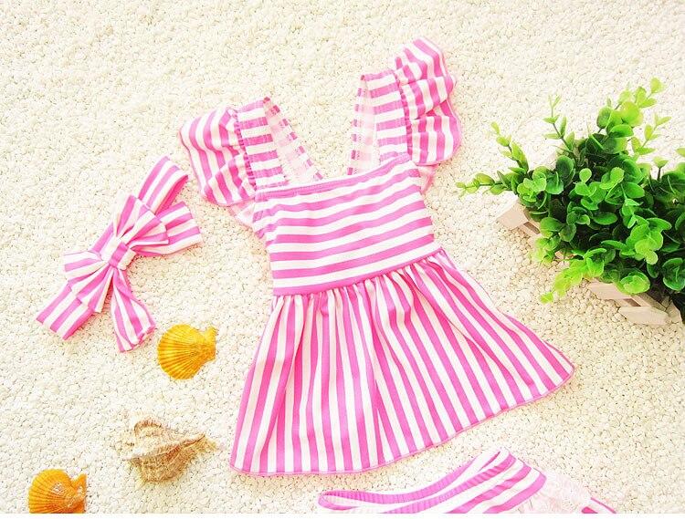 Disegno Bagno Per Bambini : Swimswear ragazze costume da bagno tre pezzi farfalla bow knot