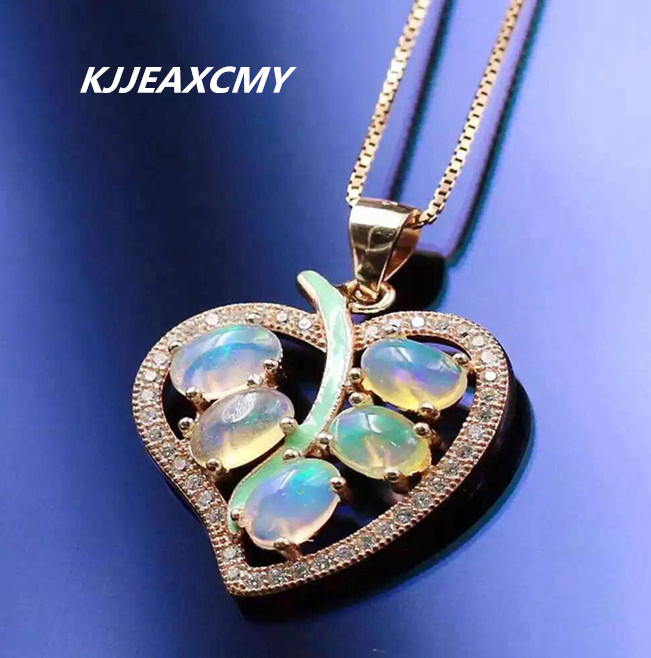 KJJEAXCMY boutique jewelry,Natural Opal Pendant 925 Silver Colored Gemstone Pendant exquisite female цена
