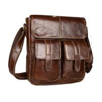 Genuine Leather Men Bags Fashion Male Messenger Bag Men's Small Briefcase Man Casual Crossbody Bags Shoulder Handbag