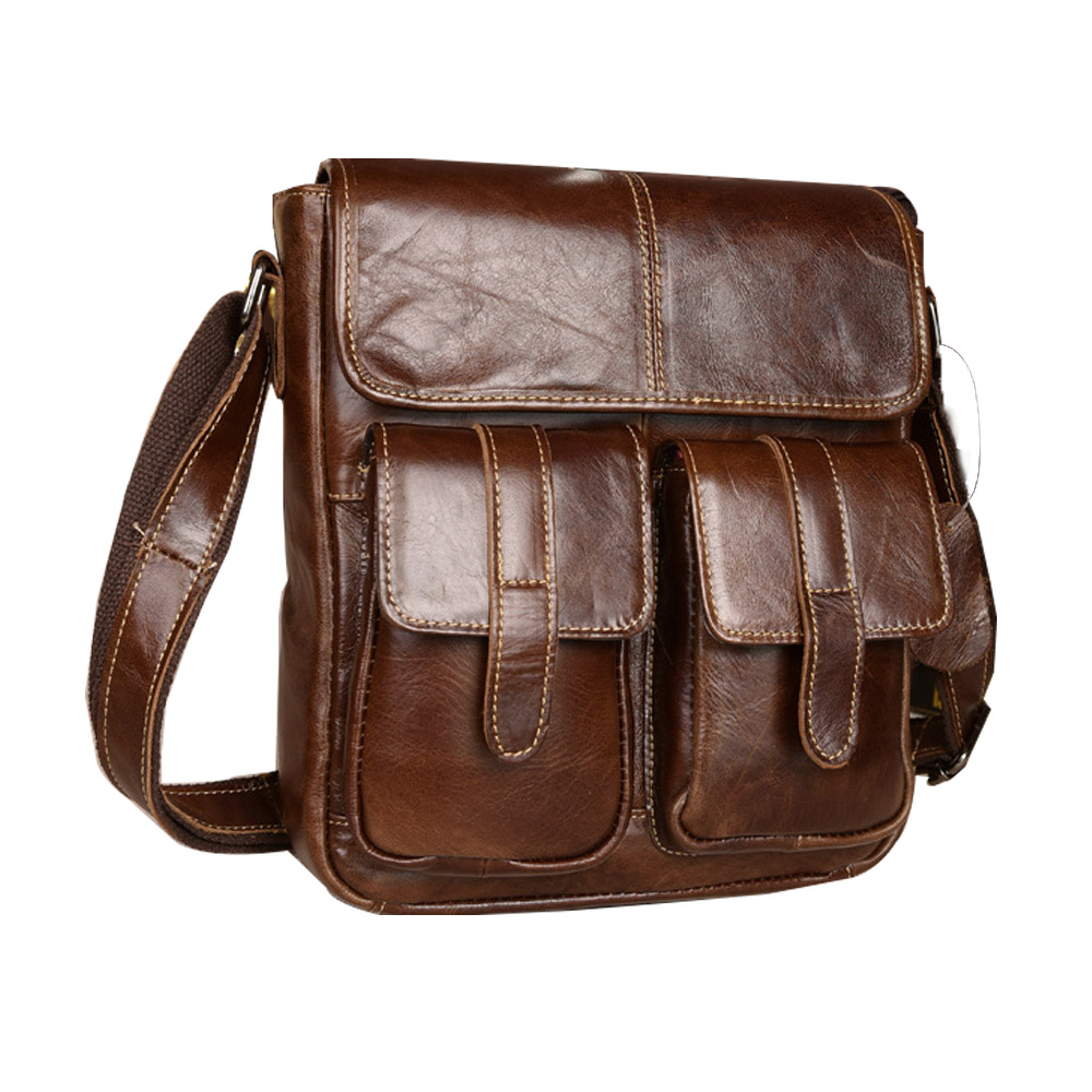 Genuine Leather Men Bags Fashion Male Messenger Bag Men's Small Briefcase Man Casual Crossbody Bags Shoulder Handbag